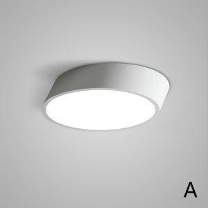 Plafonnier LED lampe de plafond pour salle à manger chambre luminaire rond design style simple moderne à 2 modèles mince
