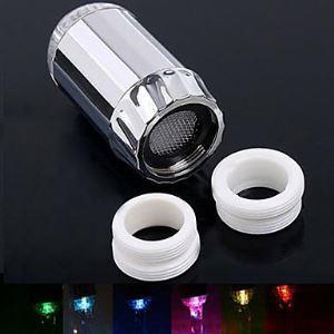 (Entrepôt UE) 7 Couleurs robinet LED contemporain