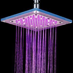 LED robinet pommeau de douche de 8 pouces finition chromée