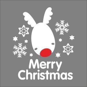 Merry Christmas PVC sticker mural Noël décoration pour chambre salle