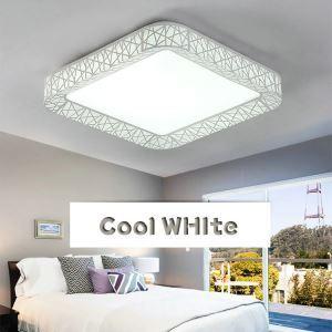 Plafonnier LED lampe de plafond pour salle à manger chambre luminaire nid carré design simple moderne