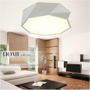 Plafonnier LED acrylique D52cm 2 modèles pour salle à manger chambre