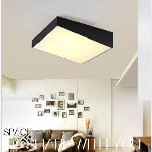 Plafonnier LED lampe de plafond pour salle à manger chambre luminaire géométrique design simple moderne à 2 modèles