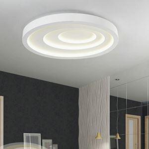 Plafonnier LED lampe de plafond pour salle à manger chambre luminaire ovale vague géométrique simple moderne