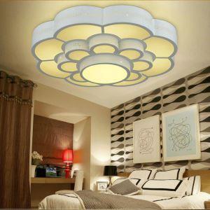Plafonnier LED lampe de plafond pour salle à manger chambre luminaire fleur géométrique simple moderne