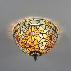Plafonnier en verre tournesol luminaire pour salon cuisine chambre