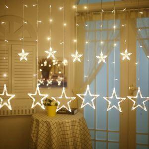 Guirlande lumineuse en forme de l'étoile LED 12 lumières décoration pour Noël chambre