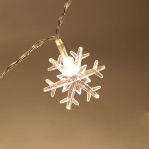 Guirlande lumineuse LED en forme de neige pour Noël chambre