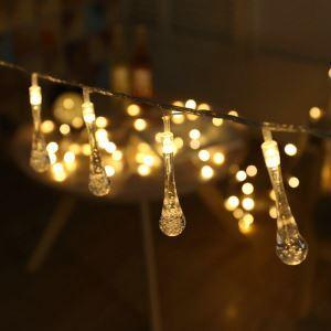 Guirlande lumineuse LED en forme de goutte d'eau pour Noël intérieur