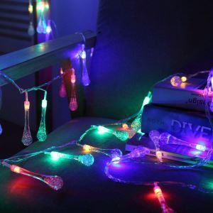 Guirlande lumineuse LED en forme de goutte d'eau pour Noël chambre