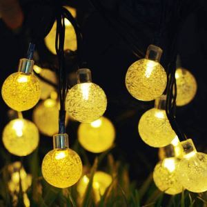 Guirlande lumineuse en forme de bulle LED design extérieur décoration pour Noël