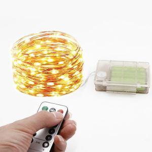 Guirlande lumineuse 3AAA LED design fil de cuivre extérieur décoration pour Noël