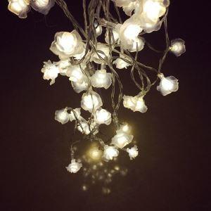 Guirlande lumineuse en forme de rose LED design décoration pour Noël
