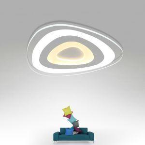 Plafonnier LED en acrylique D 52 cm 3 modèles pour salle à manger chambre