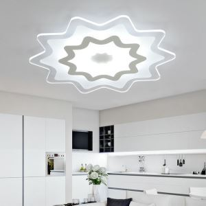 Plafonnier LED lampe de plafond pour salle à manger chambre luminaire géométrique simple moderne à 4 modèles
