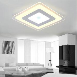 Plafonnier LED lampe de plafond pour salle à manger chambre luminaire losange géométrique simple moderne à 4 modèles