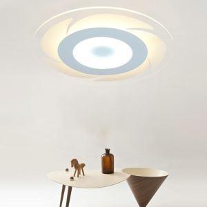 Plafonnier LED lampe de plafond pour salle à manger chambre luminaire rond géométrique simple moderne à 4 modèles