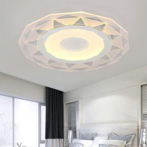 Plafonnier LED lampe de plafond pour salle à manger chambre luminaire géométrique simple moderne à 3 modèles