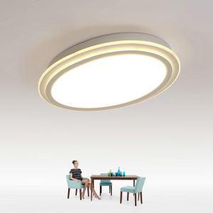 Plafonnier LED lampe de plafond pour salle à manger chambre luminaire ovale géométrique simple moderne à 2 modèles