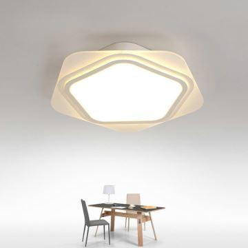 Plafonnier Led Lampe De Plafond Pour Salle A Manger Chambre Luminaire Etoile Geometrique Simple Moderne A 2 Modeles