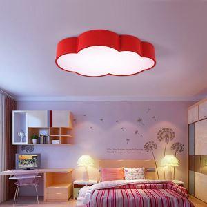 Plafonnier LED acrylique L 52 cm pour chambre d'enfant couloir luminaire nuage à 4 modèles