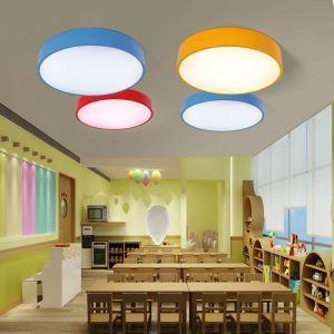 Plafonnier LED rond D50cm pour chambre d'enfant couloir luminaire 3 modèles