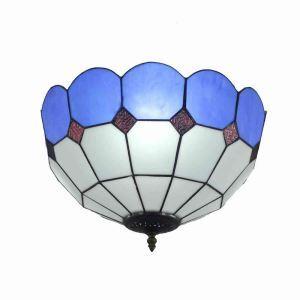 Plafonnier en verre D30cm luminaire pour salon cuisine chambre
