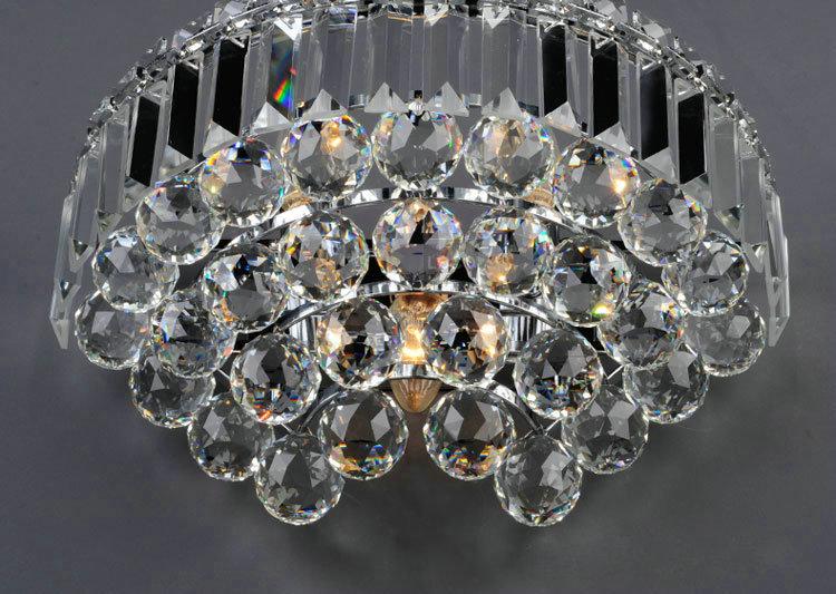 Applique murale cristal élégante l 35.3 cm pour salle chambre pas cher