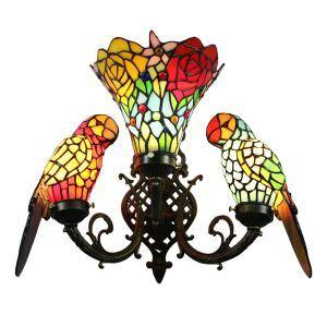Applique murale perroquet D 68 cm délicate pour salon cuisine chambre