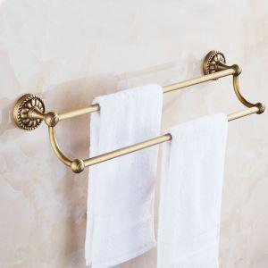 Barre porte-serviette en laiton pour salle de bain style rétro