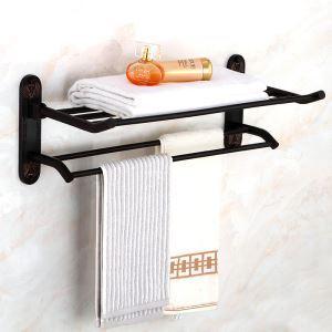 Porte-serviette en laiton noir pour salle de bain style rétro