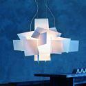 Lustre Blanc Explosion suspension design L45cm acrylique luminaire cuisine salon salle pas cher