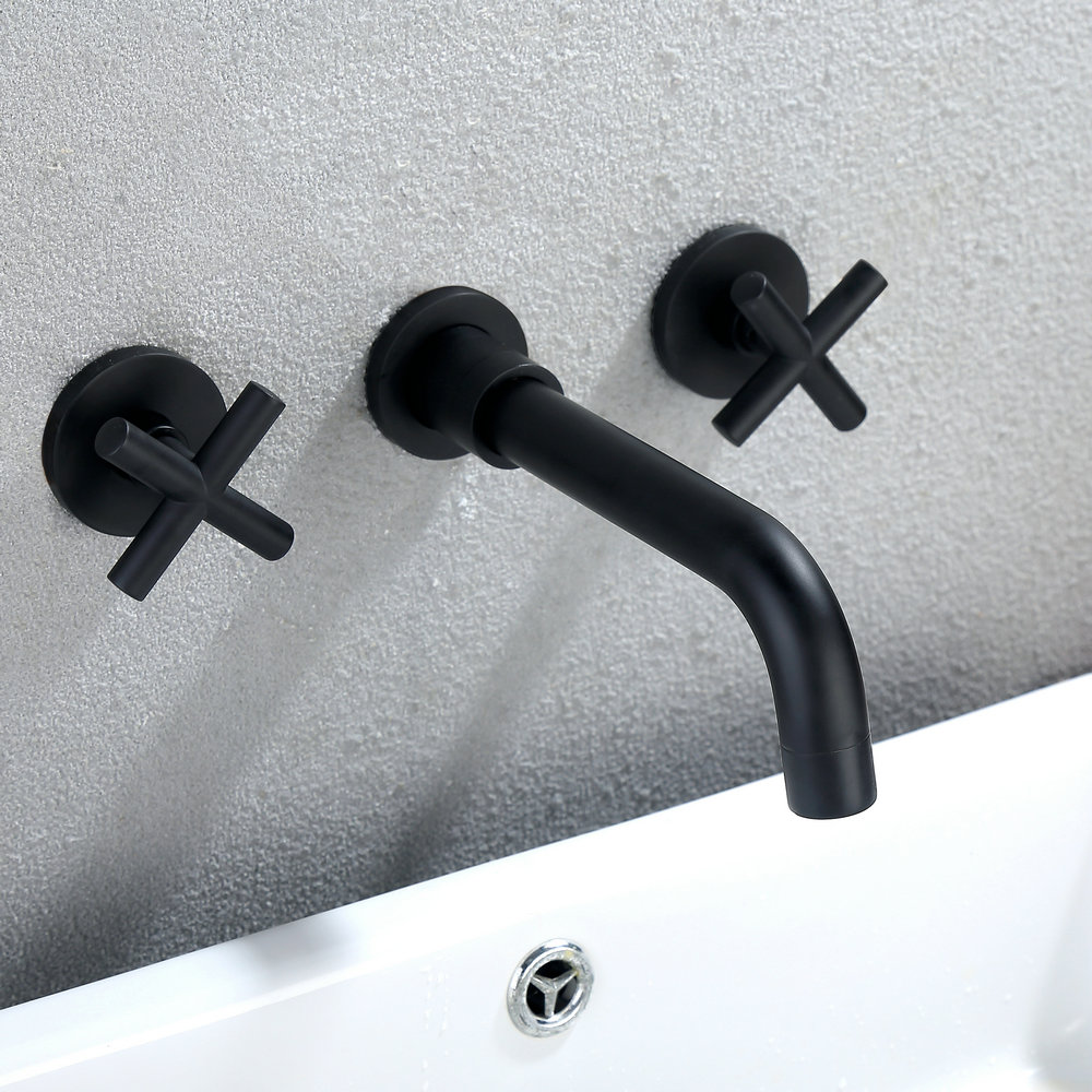 Baignoire Ceramique Pas Cher mitigeur mécanique de baignoire laiton noir 3 trous 2