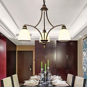 Plafonnier 3 Lampes Noir pour salon chambre salle à manger