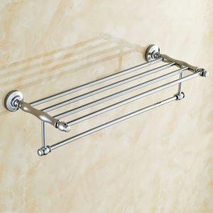 Porte de serviette en cuivre chromé doublé pour salle de bain