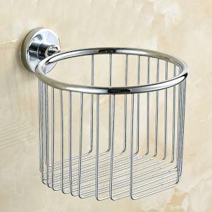 Porte de papier toilettes en acier inoxydable 304 chromé pour salle de bain