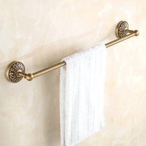 Porte serviette laiton 1 barre fixé pour salle de bains rétro
