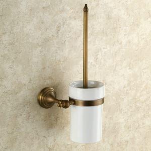 Porte de brosse à toilettes en cuivre étirage pour salle de bain rétro