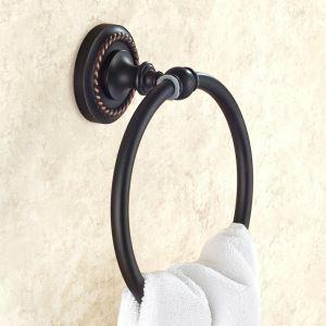 Anneau de serviette en cuivre noir ORB pour salle de bain antique