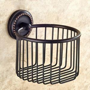 Porte de papier toilettes en cuivre noire ORB pour salle de bain antique
