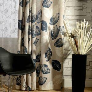 Rideau en coton lin imprimé écologique respirant style américain