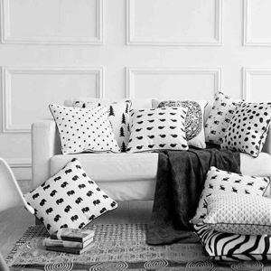 Housse de coussin Elaphurus davidianus en velours 45 x 45 cm pour canapé sofa