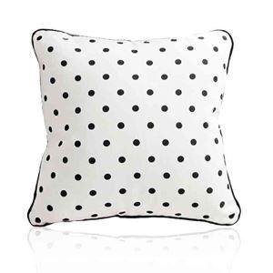 Housse de coussin pois en velours 45 x 45 cm pour canapé sofa