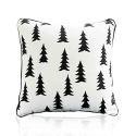 Housse de coussin en velours arbre de Noël 45 x 45 cm pour canapé sofa