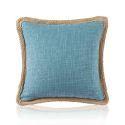 Housse de coussin en coton 45 x 45 cm pour canapé sofa 8 couleurs