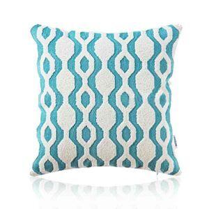 Housse de coussin en coton broderie géométrique 45 x 45 cm pour canapé sofa