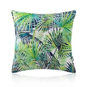 Housse de coussin bamboo imprimé en coton 45 x 45 cm pour canapé sofa
