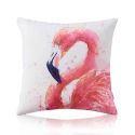 Housse de coussin en coton flamant 50 x 50 cm style forêt tropicale pour canapé sofa