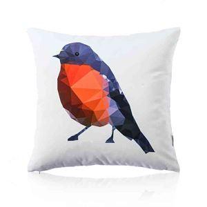 Housse de coussin en coton oiseau 45 x 45 cm pour canapé sofa