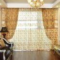 Voilage jacquard écologique pour salon chambre à coucher simple style de village